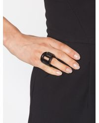 Monies | Black Cutout Ring | Lyst