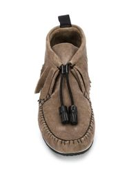 Rag & Bone | Brown Fringed Suede Moccasin Boots | Lyst