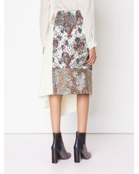Stella McCartney - White - 'belinda' Skirt - Women - Silk/polyamide/polyester/wool - 40 - Lyst
