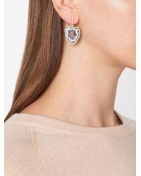 Kimberly Mcdonald | Metallic Geode And Diamond Earrings | Lyst