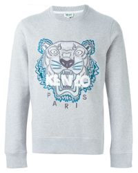KENZO | Gray 'tiger' Sweatshirt for Men | Lyst