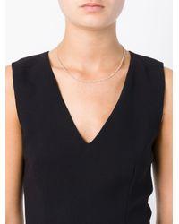 Uzerai Edits | Metallic String Diamond Necklace | Lyst
