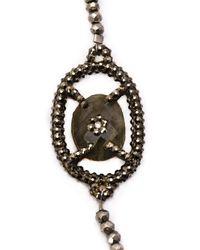 Roni Blanshay - Black Stone Embellished Beaded Necklace - Lyst