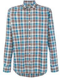Etro - Blue Plaid Shirt for Men - Lyst
