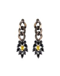 Iosselliani | Metallic 'black On Black Memento' Earrings | Lyst
