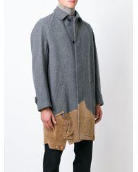 Kolor - Gray Contrasting Panels Coat for Men - Lyst