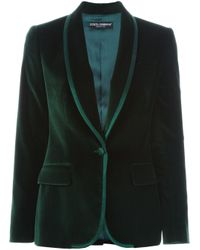 Dolce & Gabbana - Green Velvet Blazer - Lyst