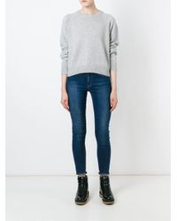 T By Alexander Wang - Gray Crew Neck Sweater - Lyst