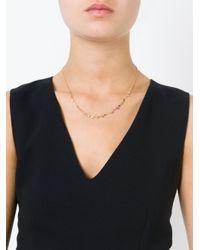 Natasha Collis | Metallic 'rock-fall Pin Peach Sapphire Story' Necklace | Lyst