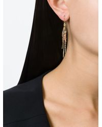 Natasha Collis - Metallic 'rod' Sapphire Earrings - Lyst