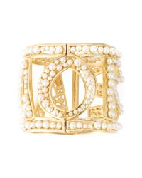 Dolce & Gabbana | Metallic Amore Pearl Cuff | Lyst
