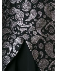 Stella McCartney - Black - 'paisley Jacquard Cindy' Dress - Women - Cotton/linen/flax/polyamide/wool - 42 - Lyst