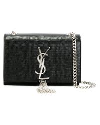 Saint Laurent - Black Small 'classic Monogram' Satchel - Lyst