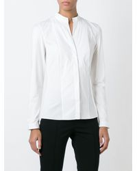 Akris - Black Band Collar Shirt - Lyst