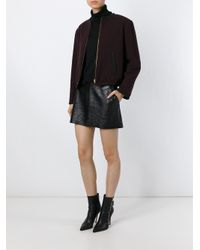 Jean Paul Gaultier - Red Bomber Cotton and Wool-Blend Jacket - Lyst