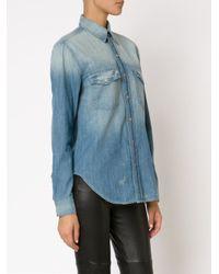 Mother - Blue Stone Washed Denim Shirt - Lyst