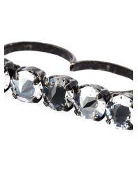 Lanvin - Black Double Ring - Lyst