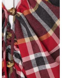 Vivienne Westwood Red Label - Red - Plaid Stole - Women - Cotton/virgin Wool - L - Lyst
