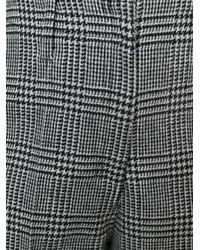 Edun - Gray Houndstooth Pattern Cropped Trousers - Lyst