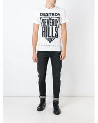 Philipp Plein - Black Destroy Beverly Hills Printed T-shirt for Men - Lyst