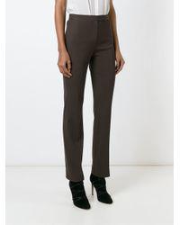 Dolce & Gabbana - Brown Straight Leg Trousers - Lyst