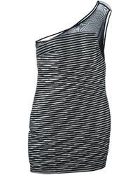 Jay Ahr - Black Asymmetric Panel Dress - Lyst