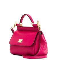 Dolce & Gabbana - Multicolor Mini 'sicily' Tote - Lyst