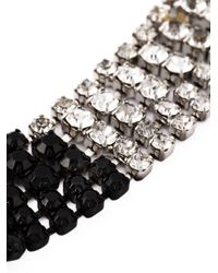 Marni - Black Crystal Waterfall Necklace - Lyst