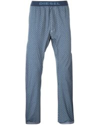 DIESEL | Blue Rhombus Print Pyjama Trousers for Men | Lyst