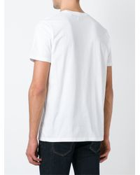 DIESEL - White Print T-shirt for Men - Lyst