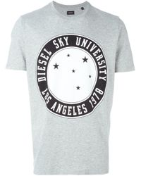 DIESEL | Gray Print T-shirt for Men | Lyst