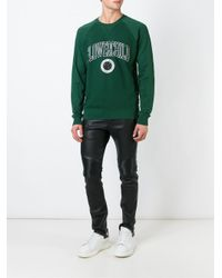 DIESEL | Green Flowerchild Print Sweatshirt for Men | Lyst