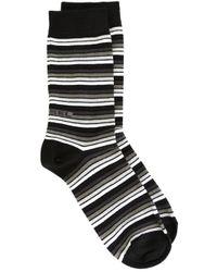 DIESEL - Black Striped Socks for Men - Lyst