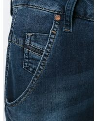 DIESEL | Blue Cropped Drop Crotch Jeans | Lyst