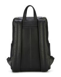 Ferragamo - Black Zipped Up Backpack - Lyst