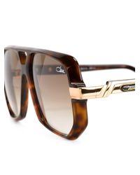Cazal - Brown '627' Aviator Sunglasses - Lyst
