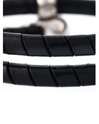 Alexander McQueen | Black Double Skull Motif Bracelet | Lyst