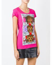 Philipp Plein | Pink 'funny' T-shirt | Lyst