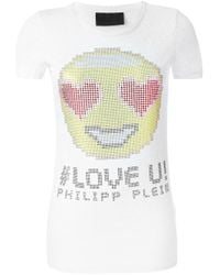 Philipp Plein | White 'new Fashion' T-shirt | Lyst