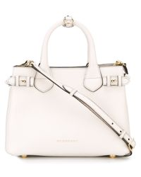 Burberry | White 'the Banner' Tote | Lyst