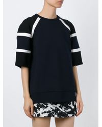Neil Barrett - Black Shortsleveed Panelled Sweater - Lyst