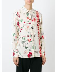 Tory Burch - Multicolor Dalton Printed Silk Crepe De Chine Shirt - Lyst
