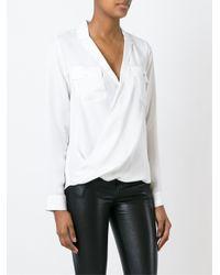 MICHAEL Michael Kors - White Wrap Style Shirt - Lyst