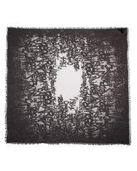 DSquared² - Black Graffiti Print Scarf - Lyst