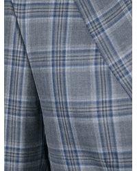 Brioni - Gray Check Print Blazer for Men - Lyst
