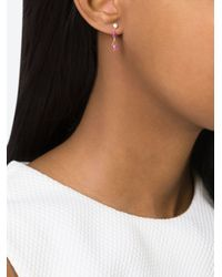 Natasha Collis - Metallic Pink Sapphire Drop Stud Earrings - Lyst