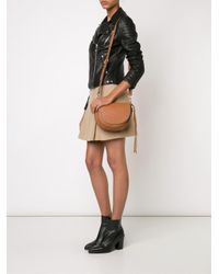 Rebecca Minkoff - Brown Studded Cross-body Bag - Lyst