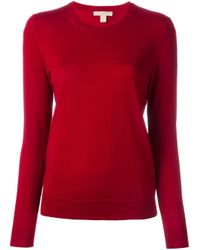 Burberry Brit | Red Elbow Patch Jumper | Lyst