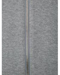 Helmut Lang - Gray Jersey Bomber Jacket for Men - Lyst