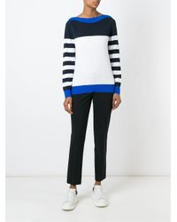MICHAEL Michael Kors - Black Striped Sweater - Lyst